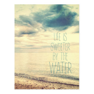 Life Is Sweeter Beach Scene Postcard
