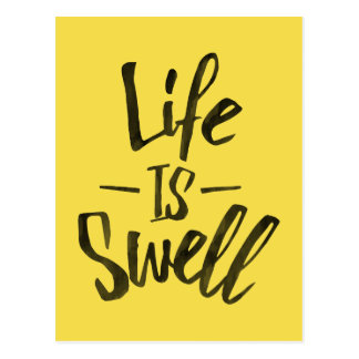 Life is swell postcard