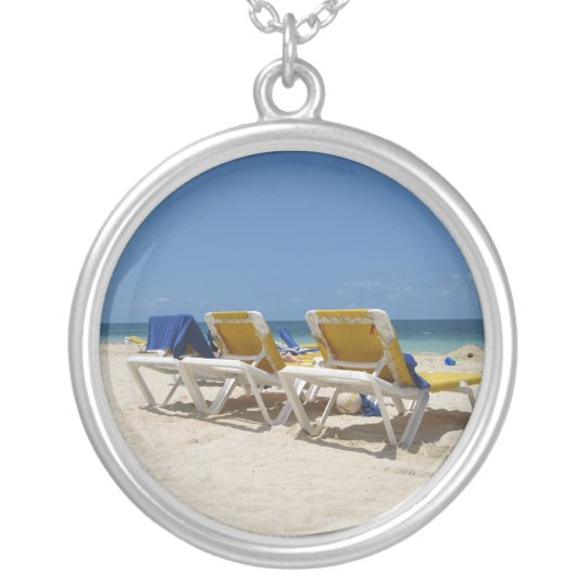 Life is the Beach Silver Plated Necklace