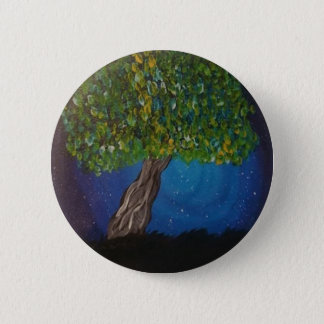 life,is the earth,and trees pinback button