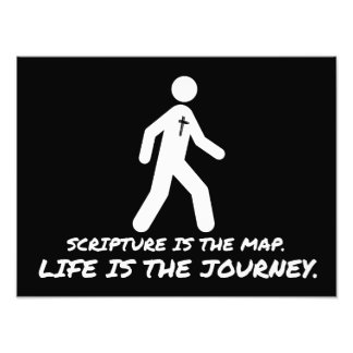 Life is the Journey Christian Photo Print