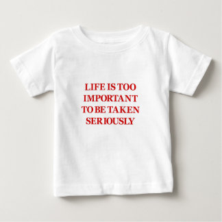Life Is Too Important (red) Baby T-Shirt