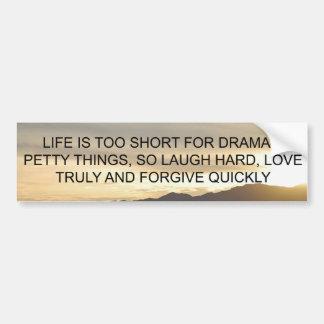 Life Is Too Short Bumper Sticker
