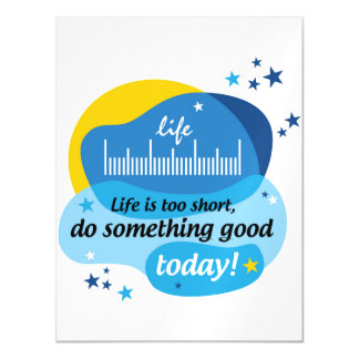 Life is too short, do something good today! magnetic card