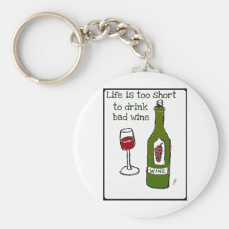 Life is too short to drink bad wine..print by jill keychain