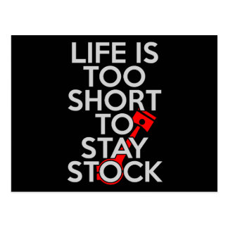 Life Is Too Short to Stay Stock Postcard
