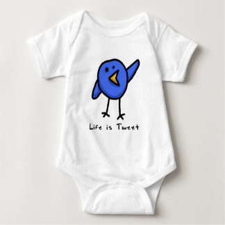"""Life is Tweet"" Infant Creeper"