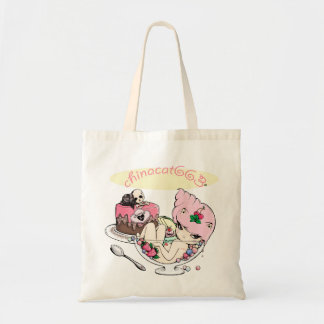 Life is uncertain, eat dessert first! canvas bags