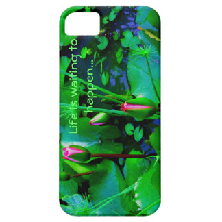 Life is waiting to happen with lilies in the pond iPhone SE/5/5s case