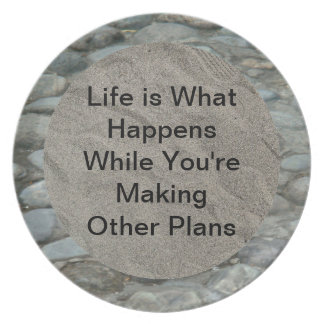 Life is What Happens-Footsteps in the Sand Plate