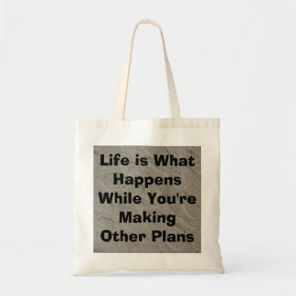 Life is What Happens-Footsteps in the Sand Tote Bag