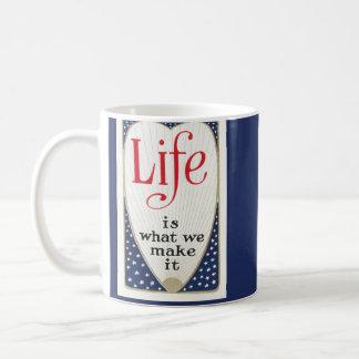 Life is what we make it classic white coffee mug
