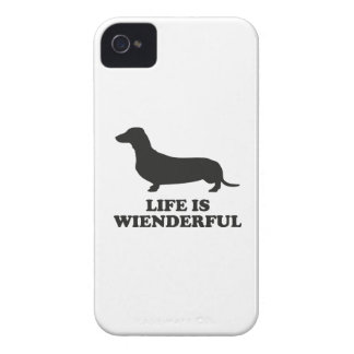 Life Is Wienderful iPhone 4 Cover