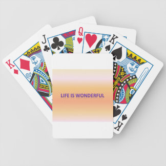 life is wonderful bicycle playing cards
