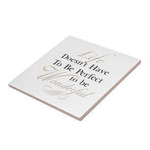 Beautiful Quotes Decorative Ceramic Tiles   Zazzle
