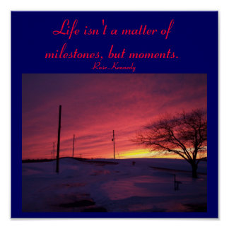Life isn't a matter of milestones,...Quote Poster
