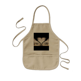 Life Isn't About Finding Yourself Heart Tornado Kids' Apron