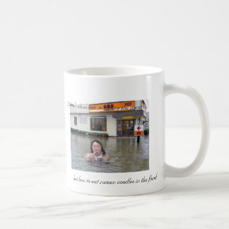 Life isn't about how  to survive the storm but how classic white coffee mug