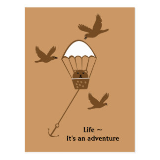 Life ~ it's an adventure postcard