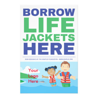 "Life Jacket Loaner Program Flyer - 5.5"" x 8.5"""