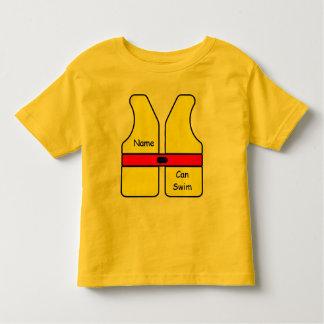 Life Jacket Name I Can Swim Toddler T-shirt
