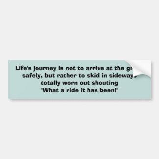 Life Journey Bumper Sticker