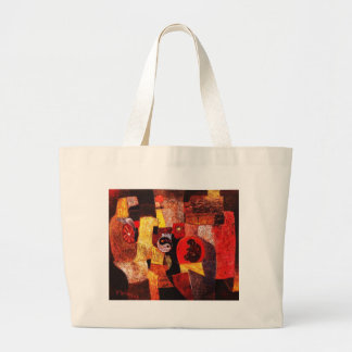 Life journey oil painting canvas bag