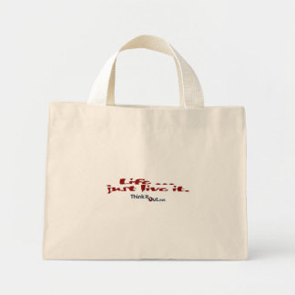 Life just live it_bag mini tote bag