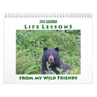 Life Lessons Animal Calendar 2016