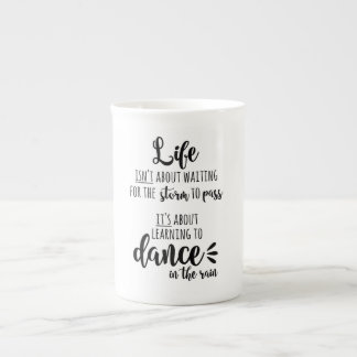 life lessons black and white coffee  Typography Tea Cup