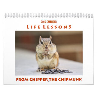 Life Lessons from Chipper the Chipmunk Calendar