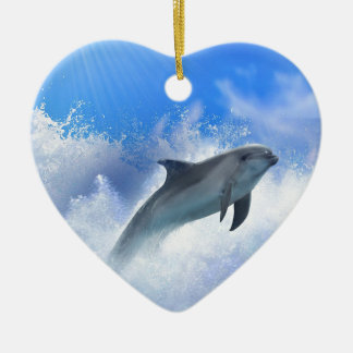 Life Lessons from the Animal World Double-Sided Heart Ceramic Christmas Ornament