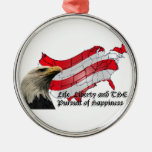 Life liberty and the pursuit of happiness christmas ornament
