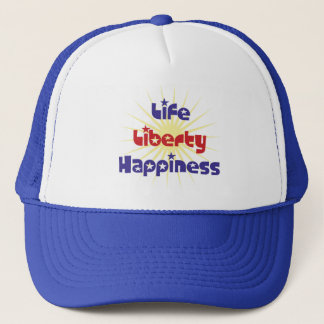 Life Liberty Happiness Trucker Hat
