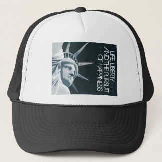 Life, Liberty, Happiness Trucker Hat