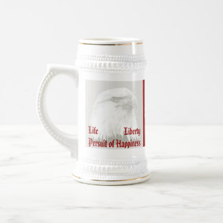 Life, Liberty, persuit patriotic 18 Oz Beer Stein
