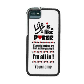 LIFE LIKE POKER custom cases iPhone 5/5S Cover