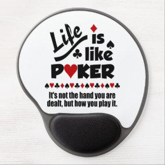 LIFE LIKE POKER custom mousepad Gel Mouse Pads