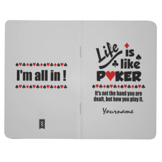 LIFE LIKE POKER custom pocket journal