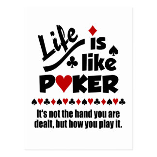 Life Like Poker postcard