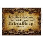 Life Like Staircase Inspirational Greeting Card
