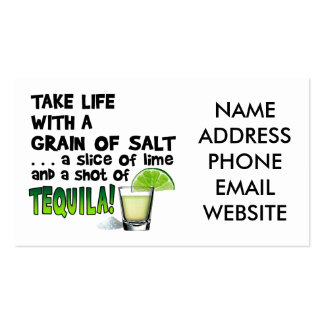 Life, Lime, Salt, TEQUILA! Cocktail Humor Business Card
