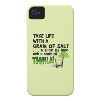 Life, Lime, Salt, TEQUILA! Cocktail Humor iPhone 4 Case-Mate Case