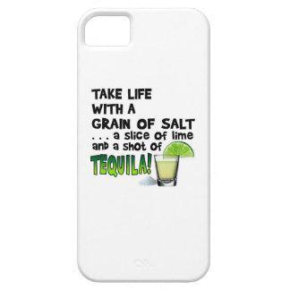 Life, Lime, Salt, TEQUILA! Cocktail Humor iPhone SE/5/5s Case