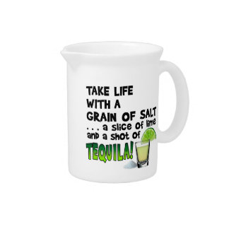 Life, Lime, Salt, TEQUILA! Cocktail Humor Pitcher
