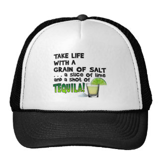Life, Lime, Salt, TEQUILA! Cocktail Humor Trucker Hat