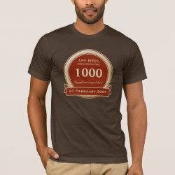 Men's Basic American Apparel T-Shirt with Custom Life List T-Shirts design
