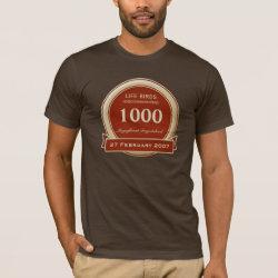 Men's Basic American Apparel T-Shirt with Custom Life List T-Shirts design