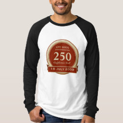 Men's Canvas Long Sleeve Raglan T-Shirt with Custom Life List T-Shirts design