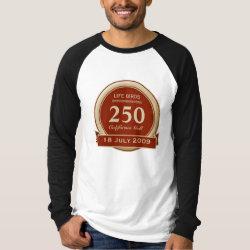 Men's Canvas Long Sleeve Raglan T-Shirt with Custom Life List T-Shirts design
